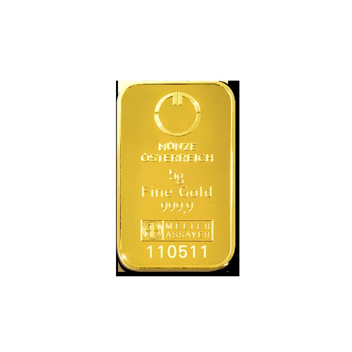 5 G Zlatna Poluga Münze österreich Heraeus Argor Heraeus